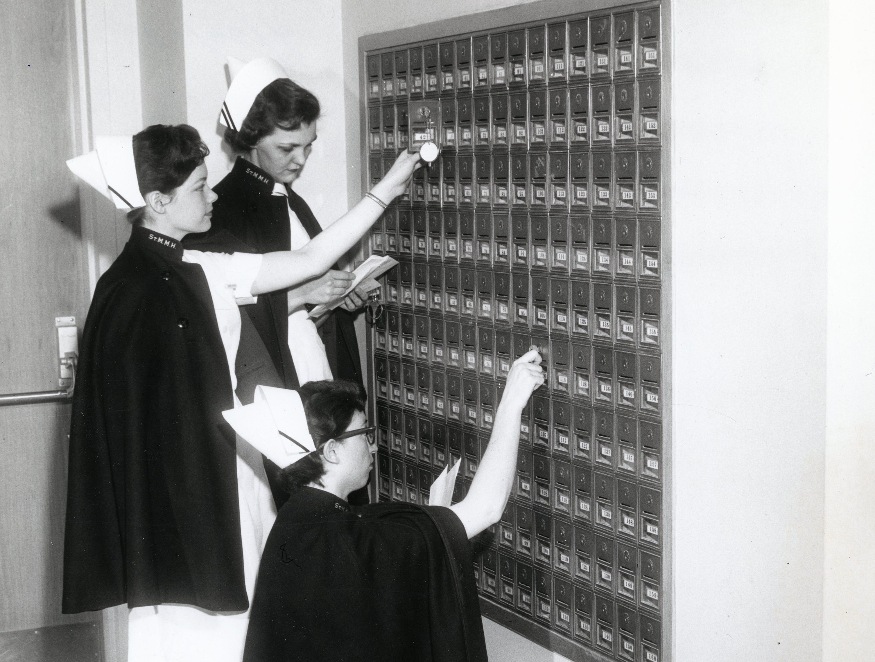 St. Mary's nurses in April 1958.