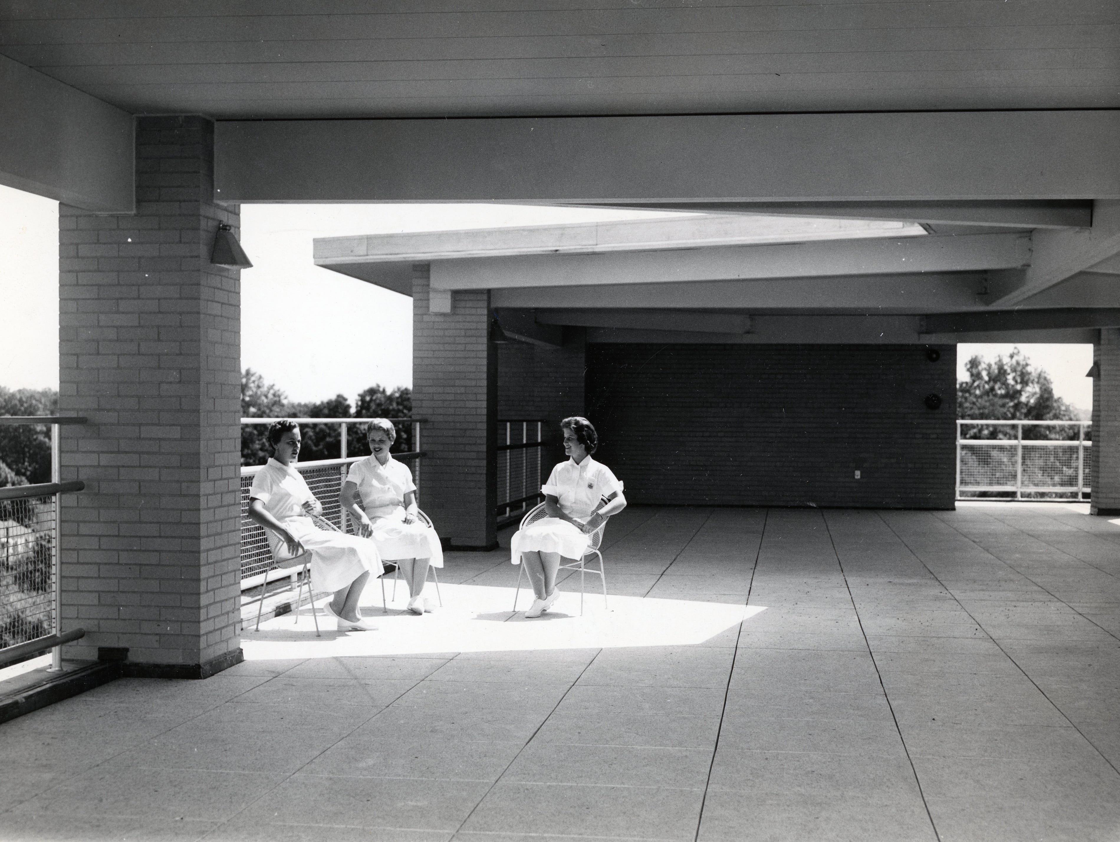 St. Mary's Hospital's new nurses' home in June 1957.