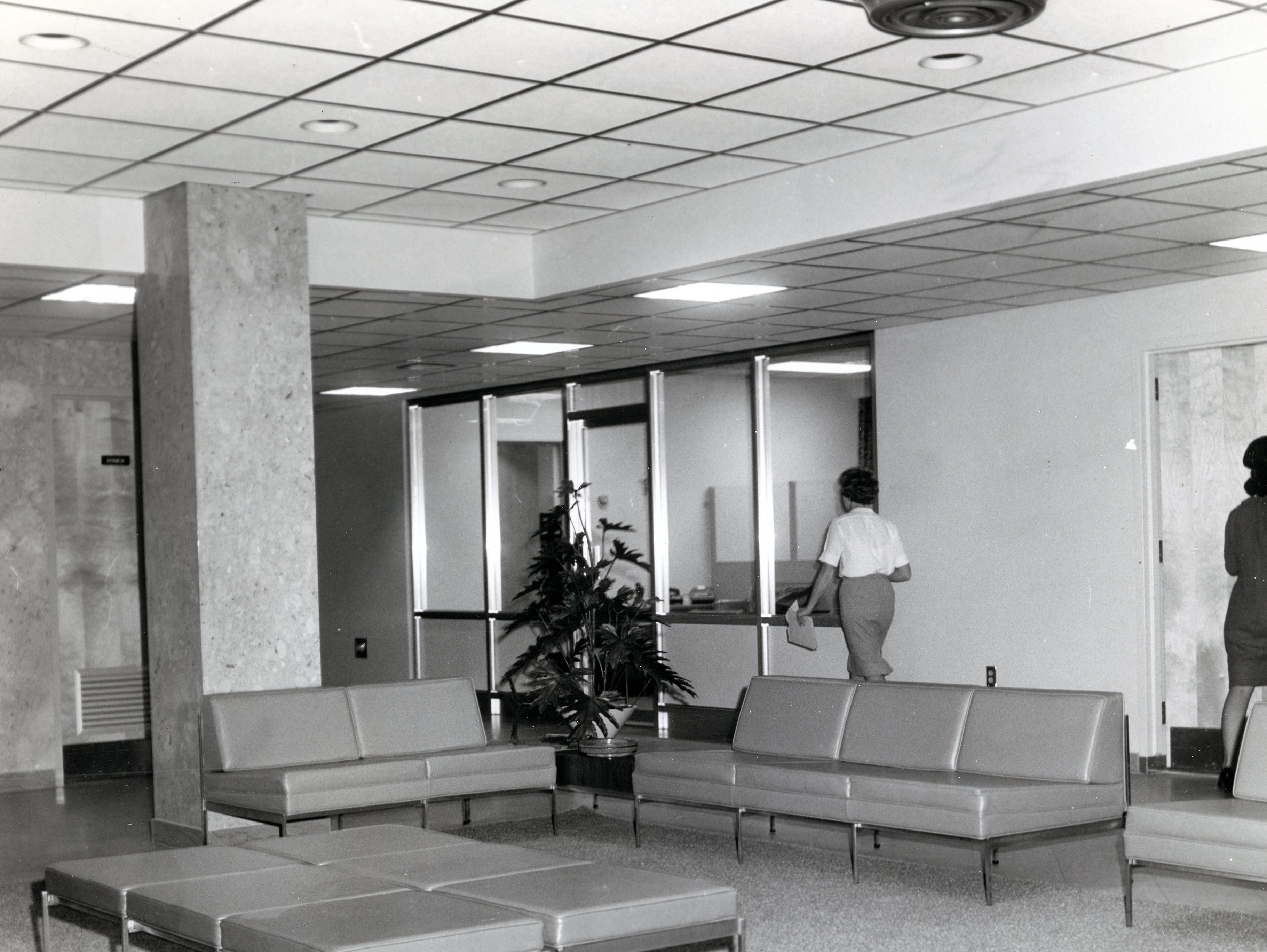 Inside the Annunciation Wing of St. Mary's Hospital in March 1966.