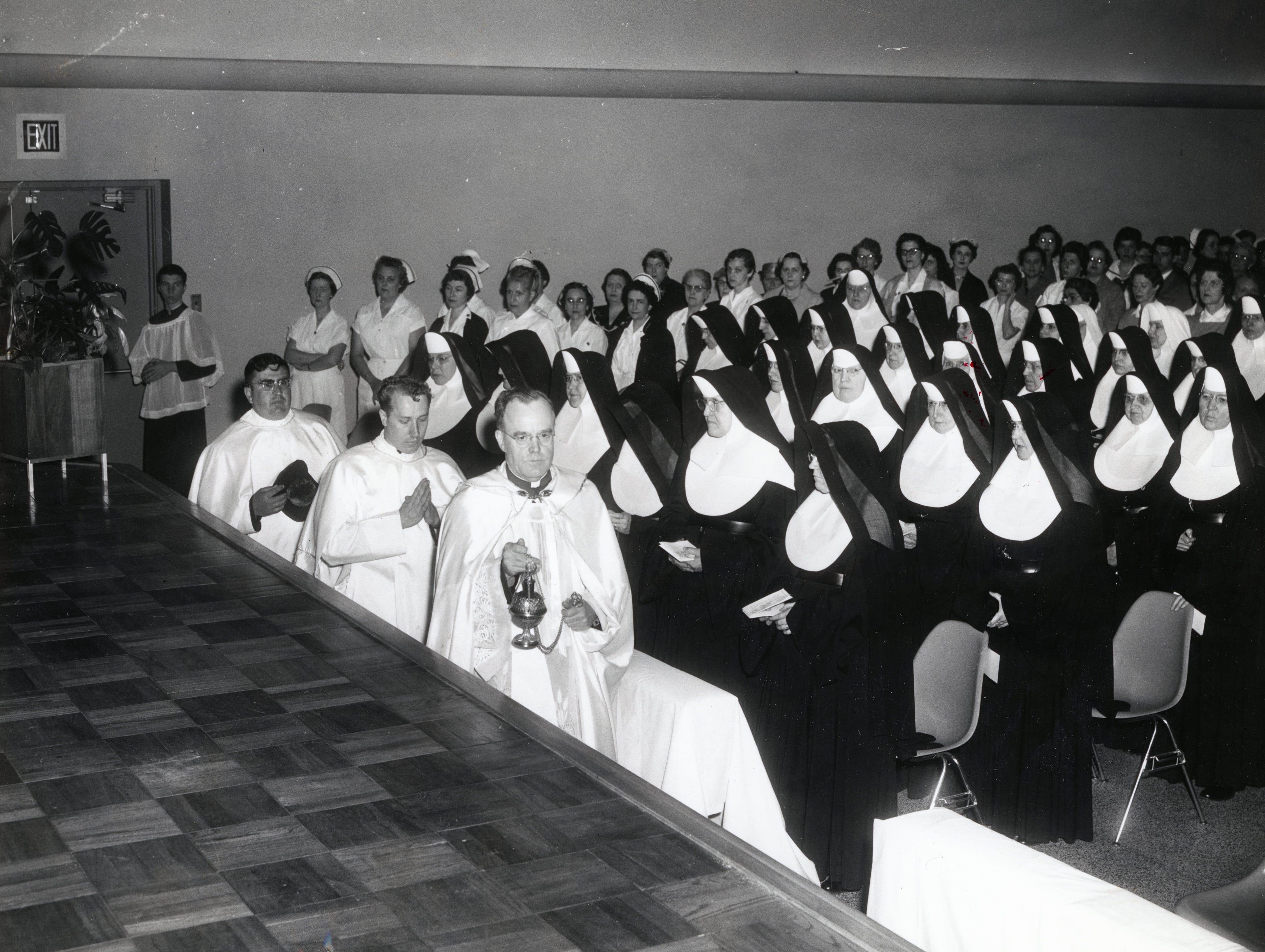 St. Mary's Hospital dedication in 1958.
