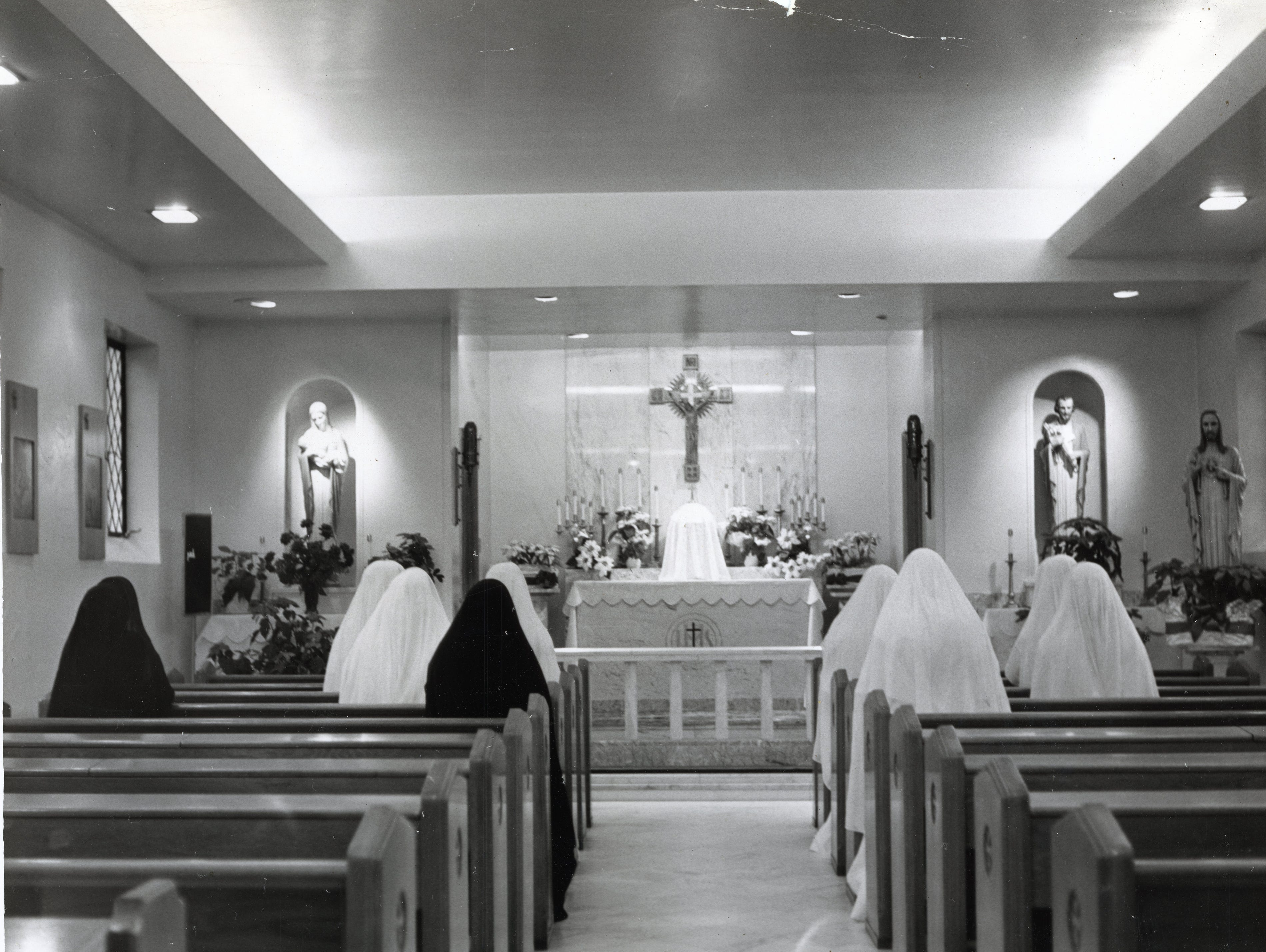 The chapel at St. Mary's Hospital in January 1964.