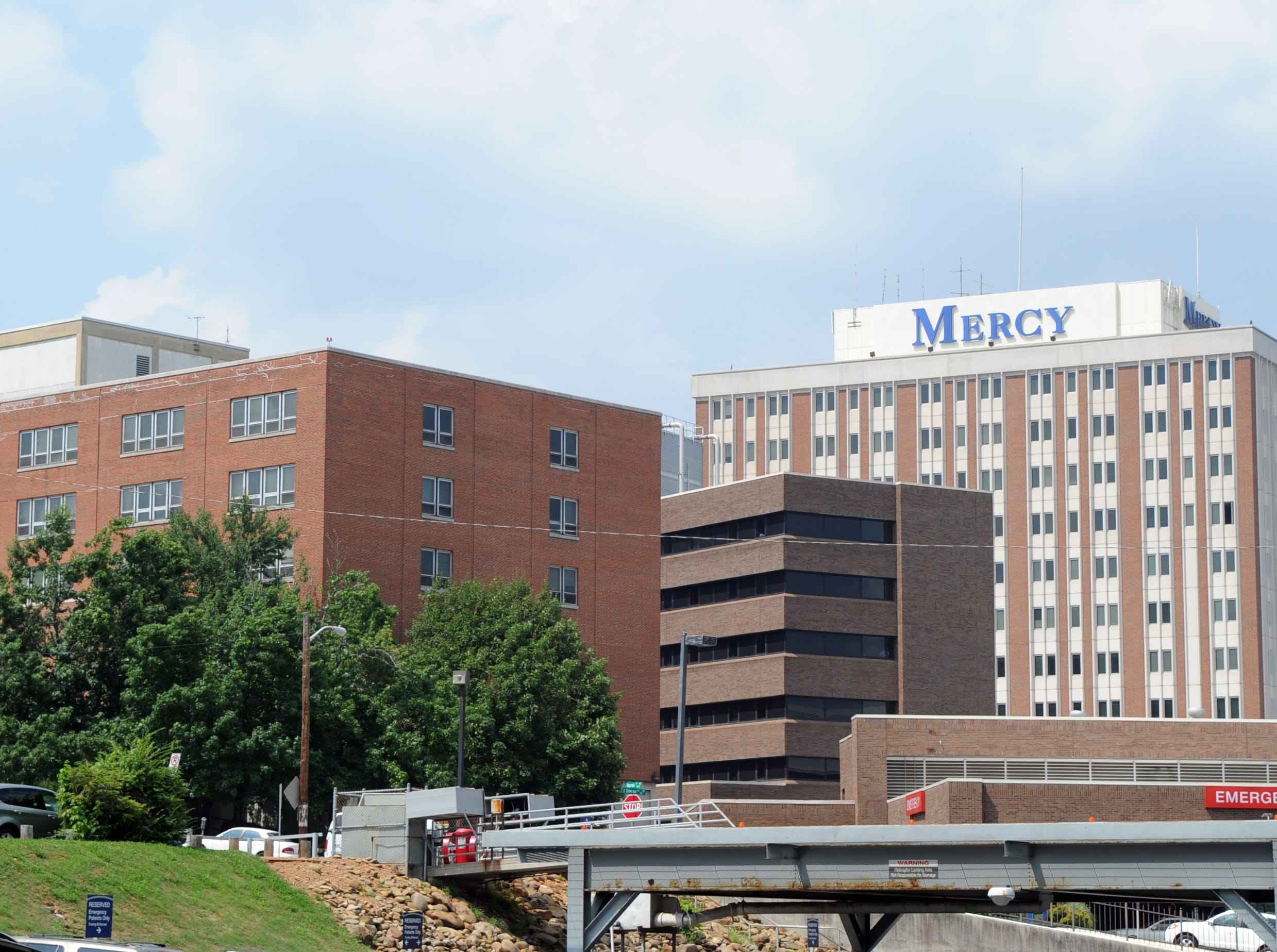 Mercy Medical Center St. Mary's in North Knoxville is seen Tuesday, July 5, 2011.  Health Management Associates has agreed to buy Mercy Health Partners for $525 million dollars pending approval from federal regulators and the Vatican.  The deal is expected to be completed by Oct. 1.