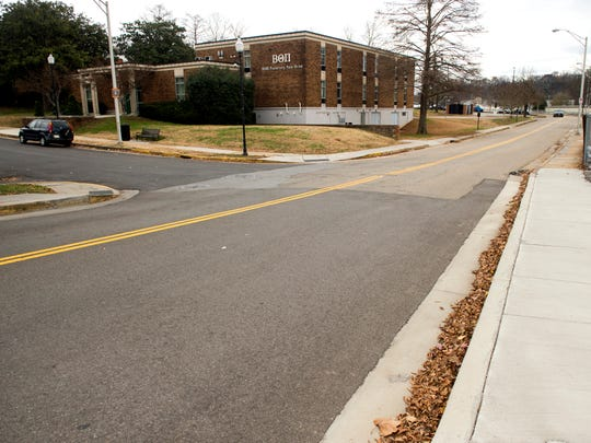 Todd Helton Drive on the University of Tennessee's campus on Wednesday.