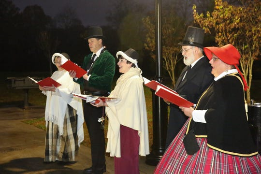 The first ever tree lighting was held at 6 p.m. on Dec. 1 after the Dickens carolers, dressed in period costumes, sang a number of Christmas carols.