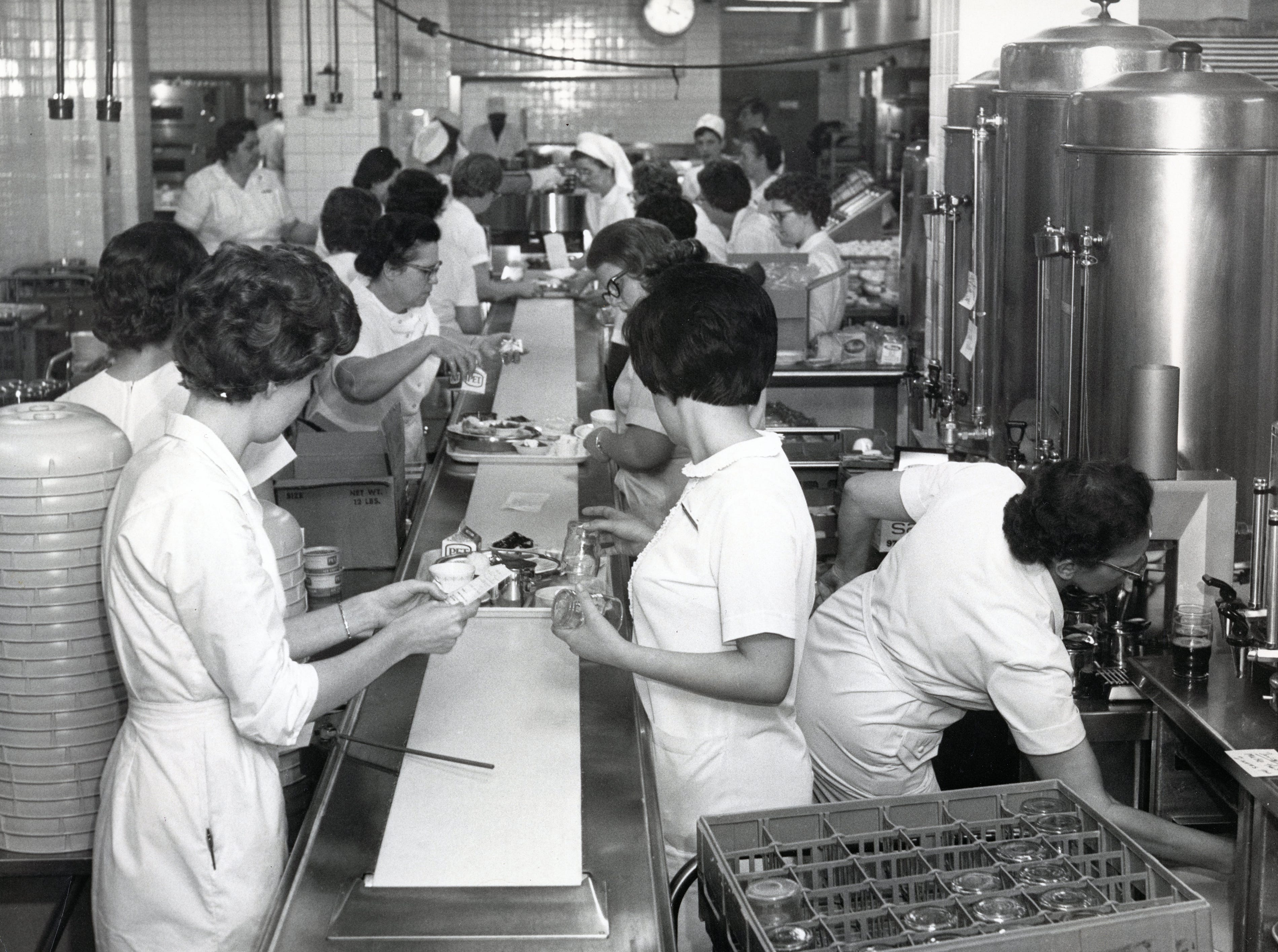St. Mary's food assembly in January 1967.