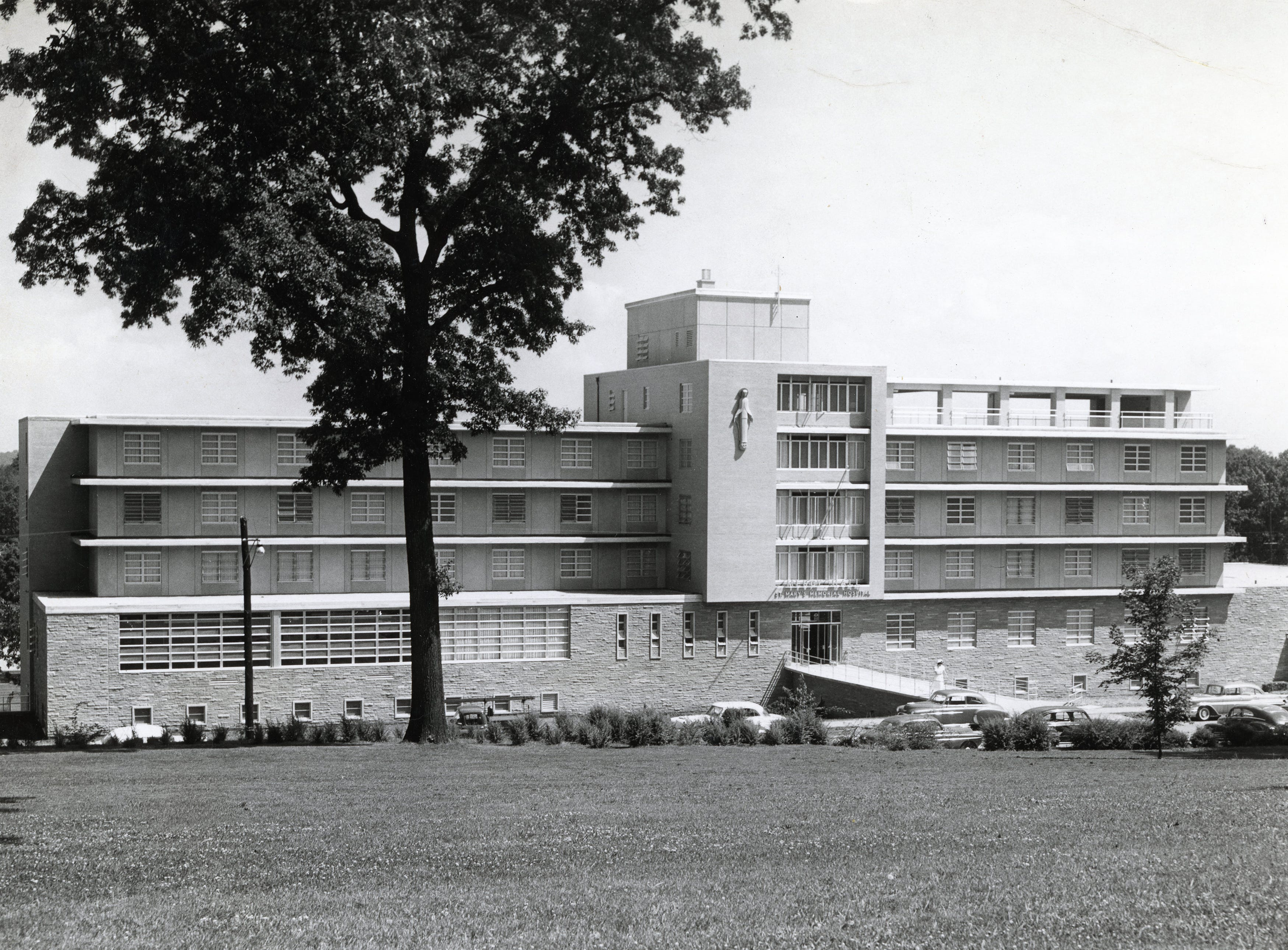 Mercy Hall at St. Mary's in June 1957.