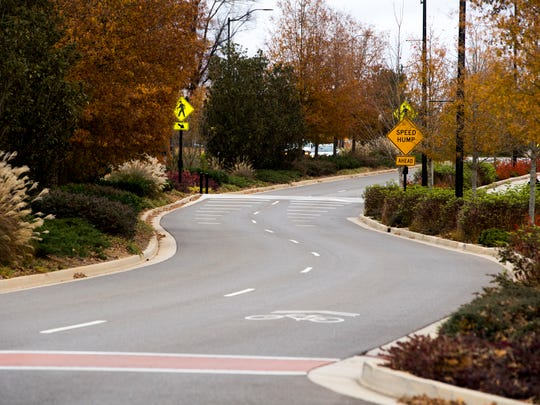 A completed section of Volunteer Boulevard on the University of Tennessee's campus on Wednesday.