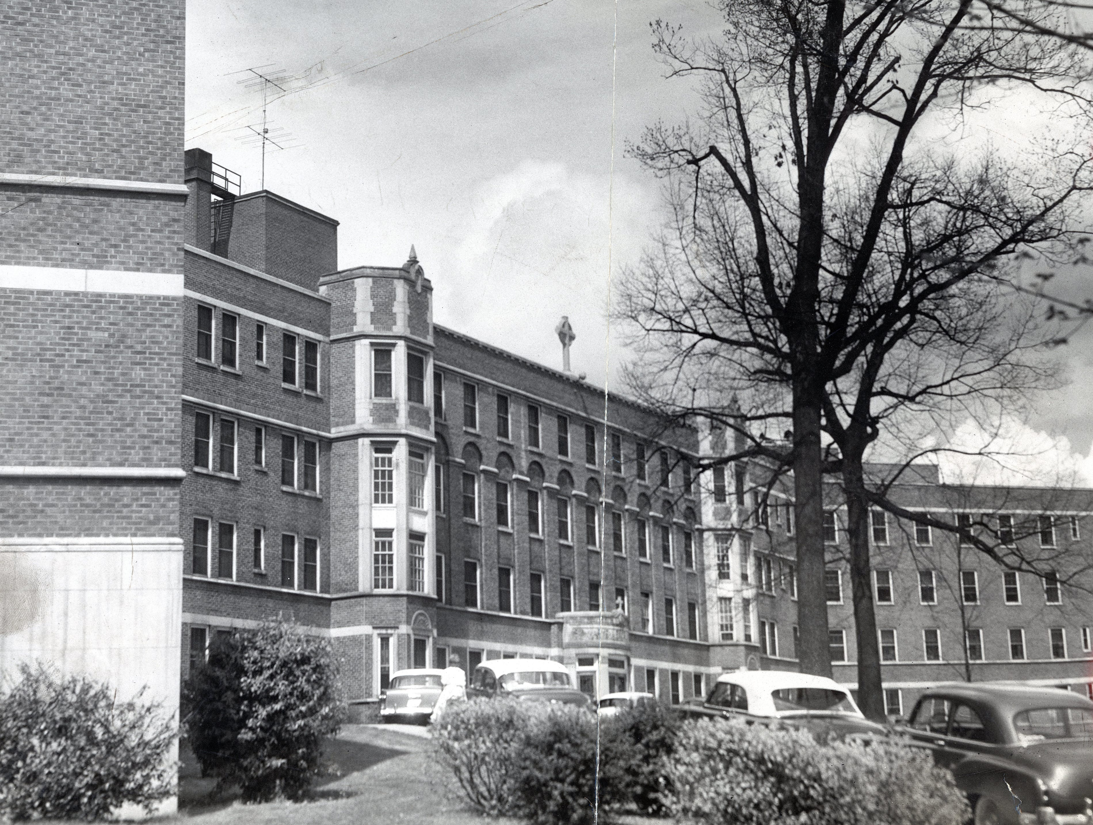 St. Mary's Hospital in April 1955.