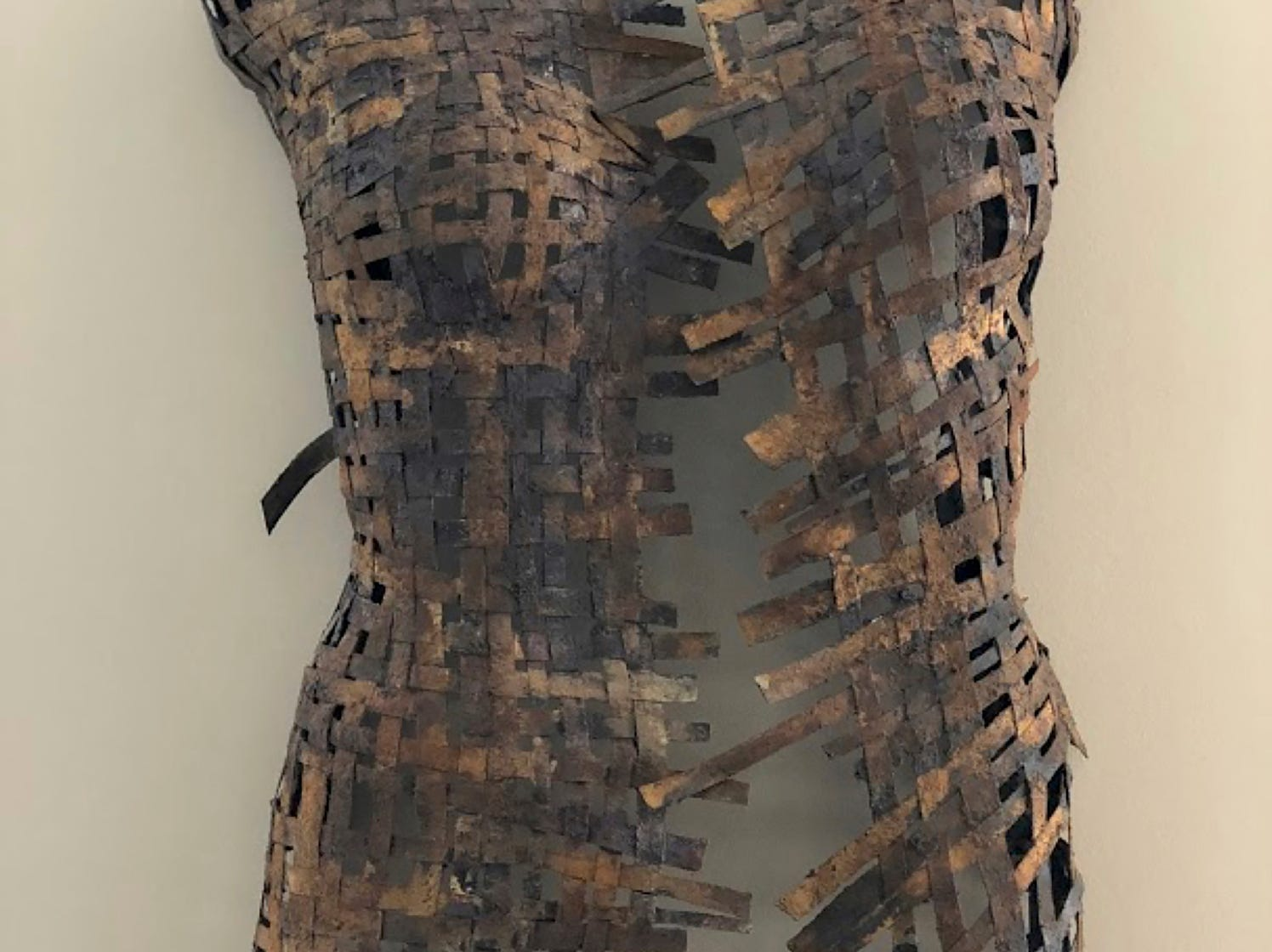 """Oxidado,"" by LaDonna Vohar, part of ""The Un-limited Figure: Creating an Afterlife for Retail Mannequins,"" opening Dec. 14 at the Art Museum of Greater Lafayette."