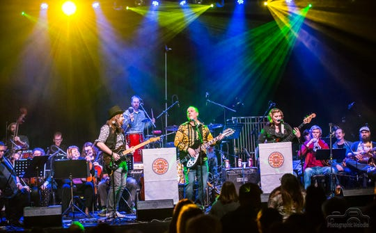 """Frank Muffin and a 22-piece orchestra performed the Beatles classic """"Sgt. Pepper's Lonely Heart's Club Band,"""" cover to cover, during a benefit show at Lafayette Theater in December 2017."""