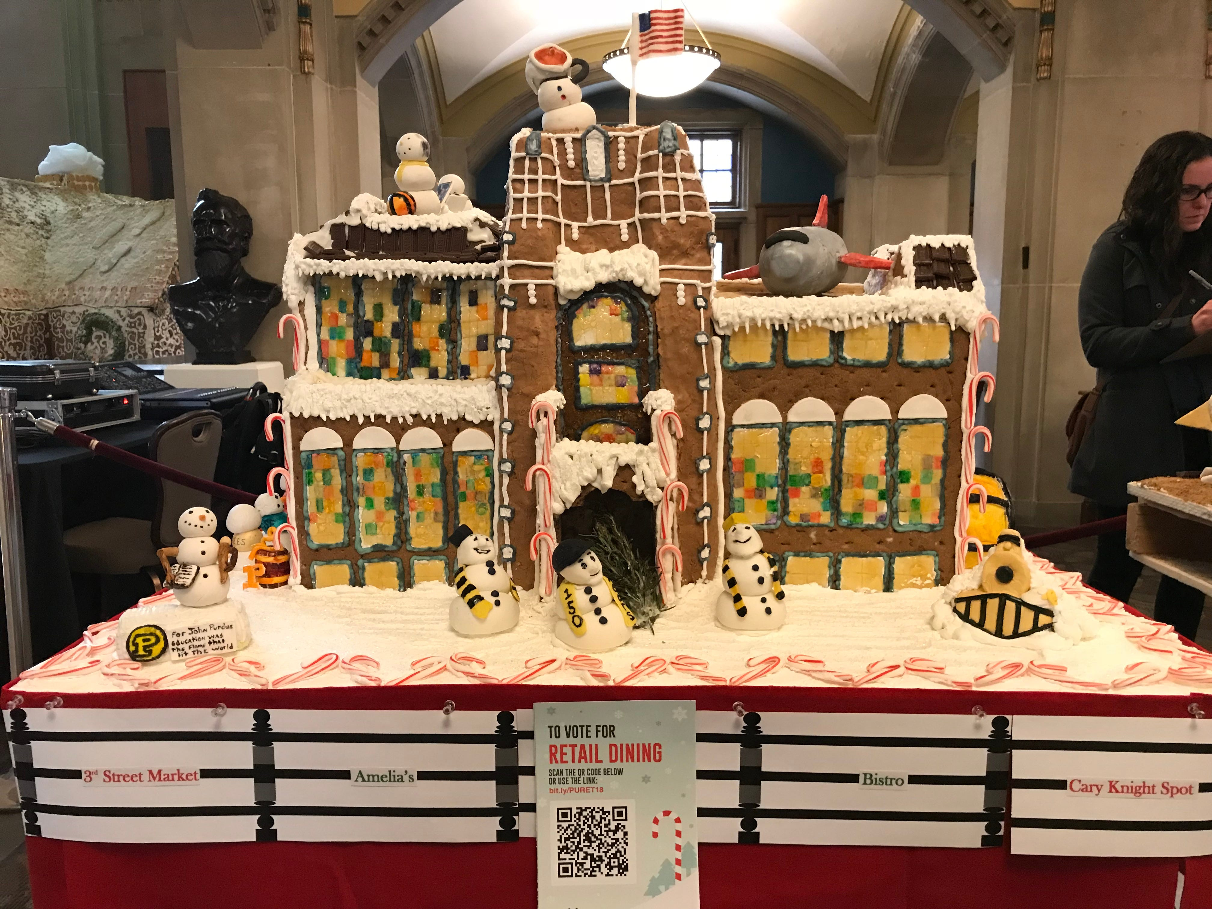Retail Dining's gingerbread display