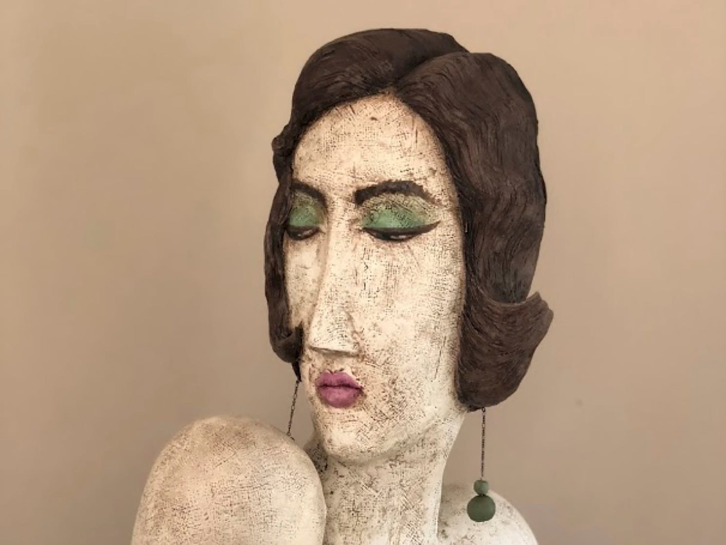 "Artists Lorie Amick and LaDonna Vohar transformed a mannequin into a fine-art sculpture by adding Styrofoam and sculpting clay. Their work can be seen in ""The Un-Limited Figure: Creating an Afterlife for Retail Mannequins,"" opening Dec. 14 at the Art Museum of Greater Lafayette."