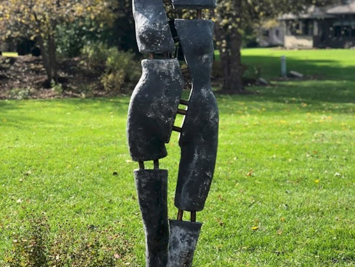 "Artists Lorie Amick and LaDonna Vohar created a fine-art sculpture, called ""Dixie,"" by deconstructing and then re-constructing a store mannequin to look like a work of ancient art."