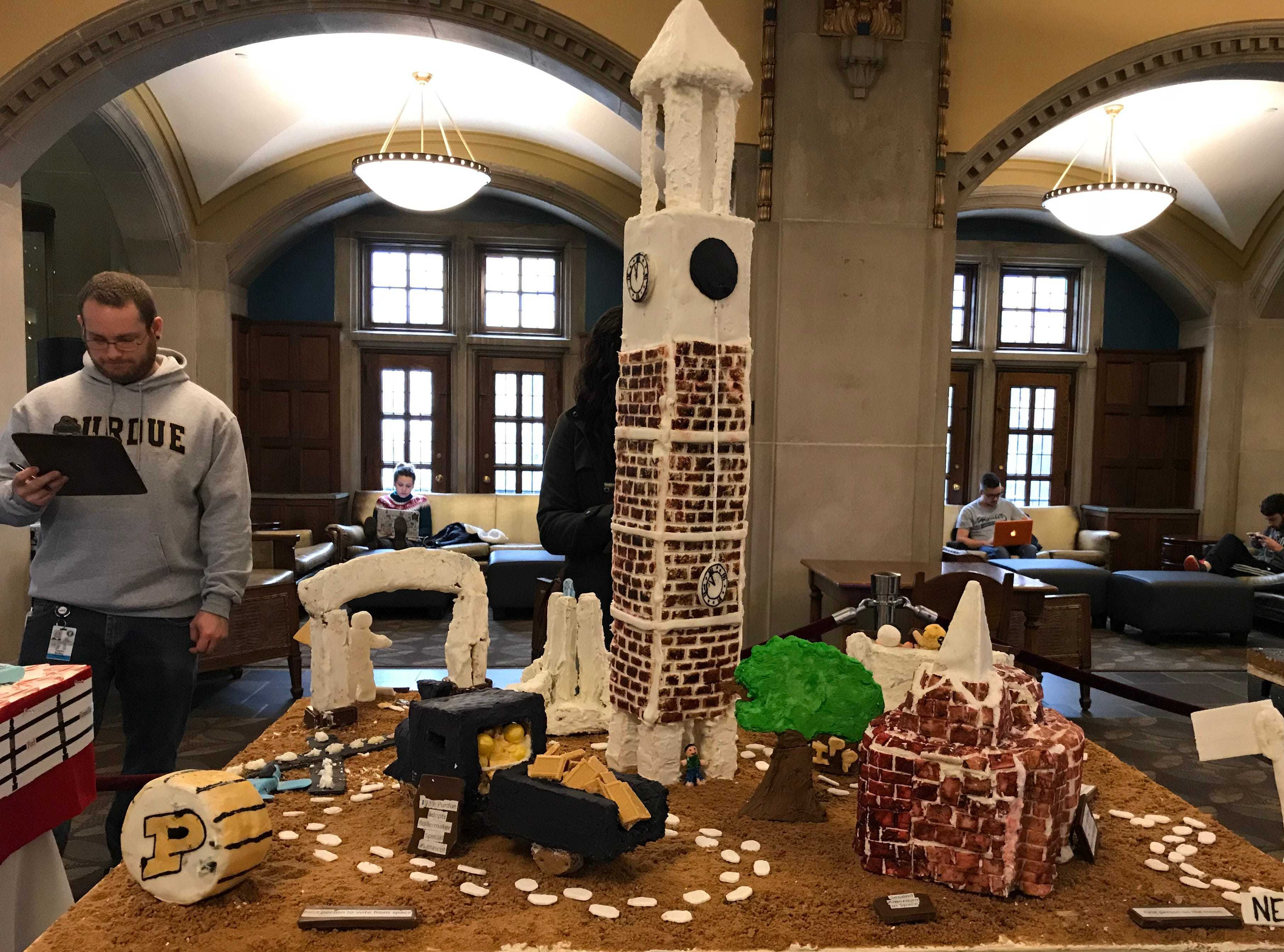 Ford Dining Court's gingerbread display