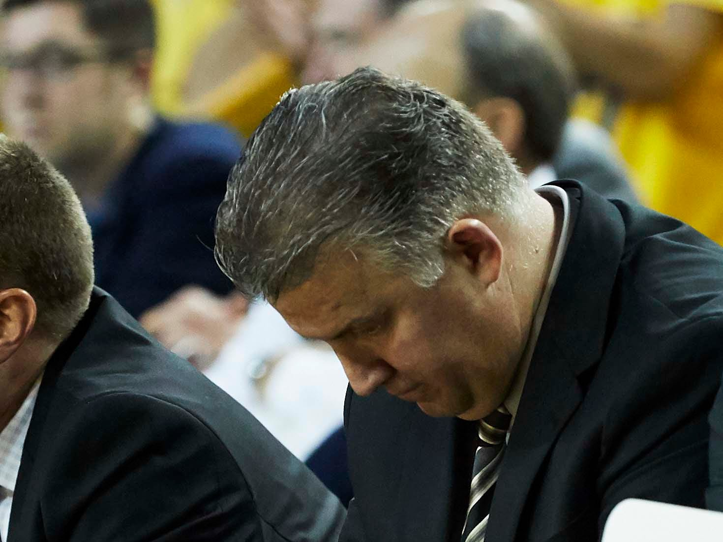 Dec 1, 2018; Ann Arbor, MI, USA; Purdue Boilermakers head coach Matt Painter sits on the bench in the second half against the Michigan Wolverines at Crisler Center. Mandatory Credit: Rick Osentoski-USA TODAY Sports