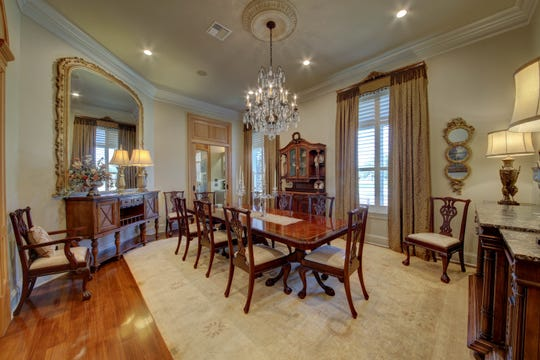 The formal dining area is large enough for any gathering.
