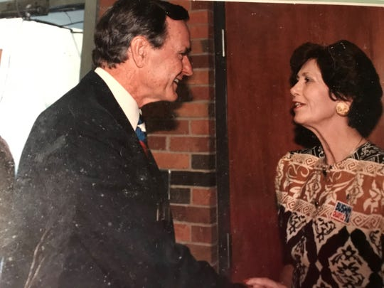 President George H.W. Bush visits Acadiana High School in October 1992.
