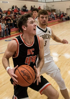 Amanda-Clearcreek senior Will Riffle scored 19 points and had 12 rebounds in the Aces' 72-49 win over Horizon Science Academy.