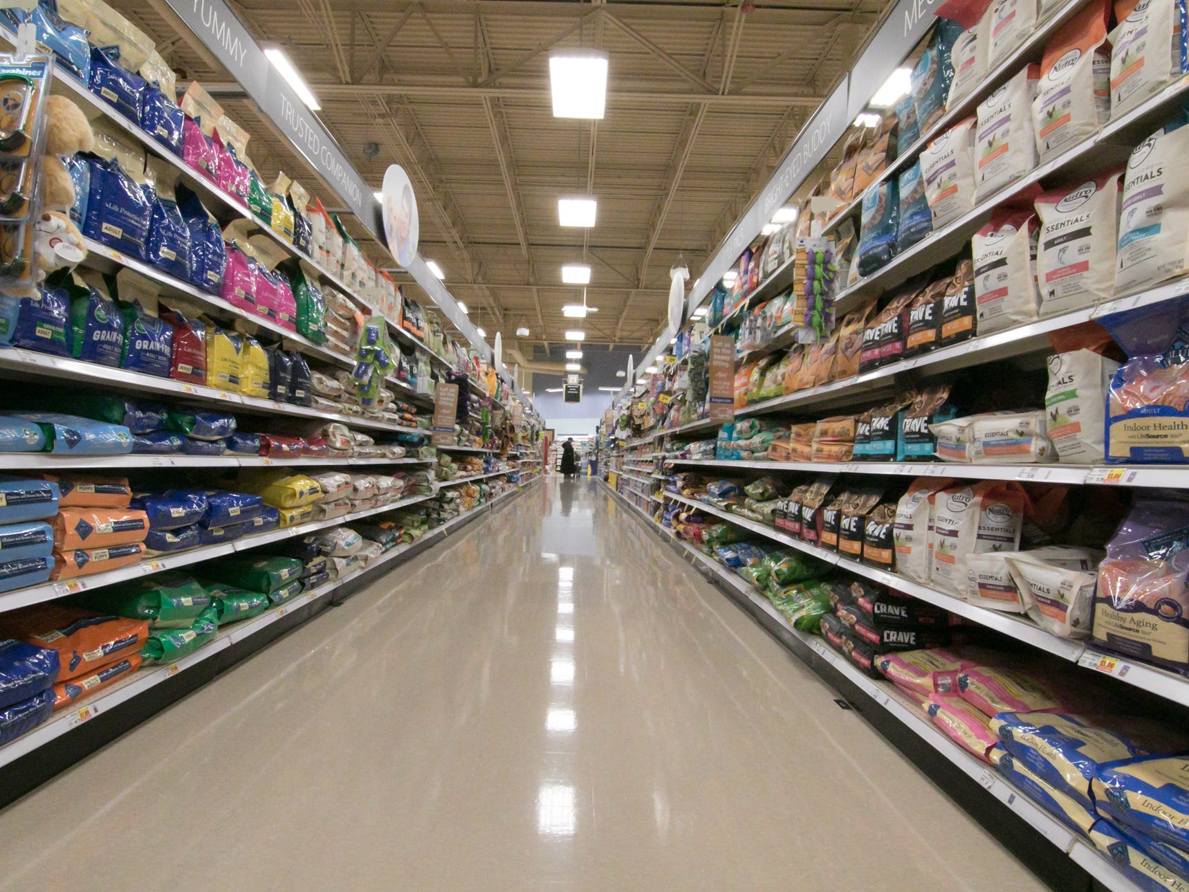 The Brighton Kroger store, shown Wednesday, Dec. 5, 2018, features wider aisles and room for more products.