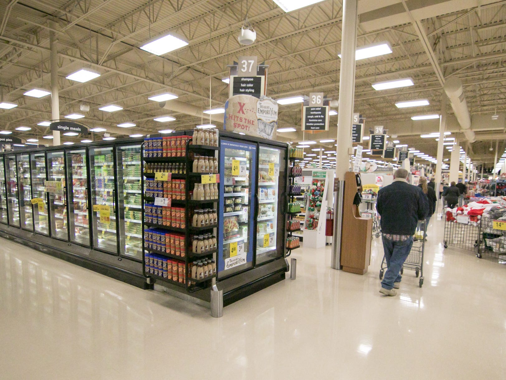 The Brighton Kroger celebrated its expansion Wednesday, Dec. 5, 2018. The store is more than 40,000-square feet larger.