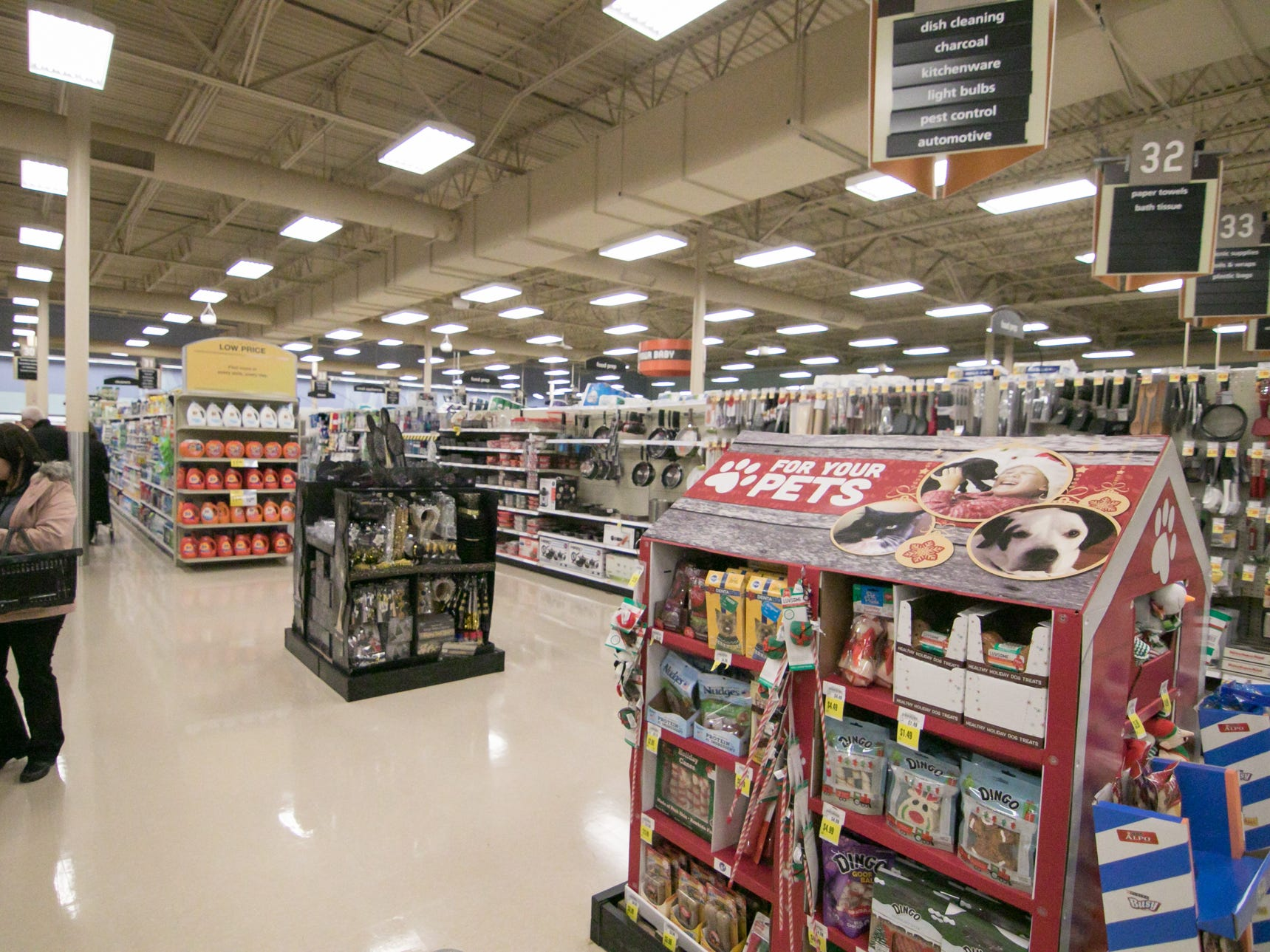 Wide, bright aisles and departments for products of all kinds are features of the Brighton Kroger expansion, celebrated Wednesday, Dec. 5, 2018.
