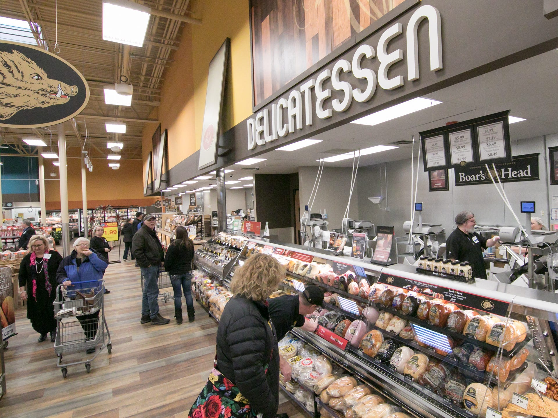 With a larger footprint in the expanded Brighton Kroger store shown Wednesday, Dec. 5, 2018, departments like the delicatessen have more room for produce.