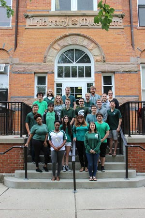 Members of the Michigan State University Debate Team, which travels across the country competing against some of the best college teams in the country.