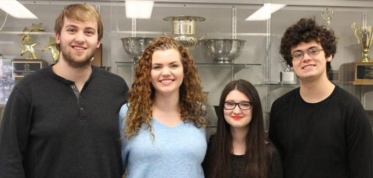 From left to write, Alex Brown, Lauren Pepper, Lena Grossman and Ezra Serrins are members of the MSU Debate Team, which received its largest ever donation - 1.5 million - earlier this fall.