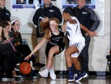 See highlights from East Lansing's season-opening win over Williamston on Dec. 4, 2018, and hear comments from Annelise Lebeda and coach Rob Smith.