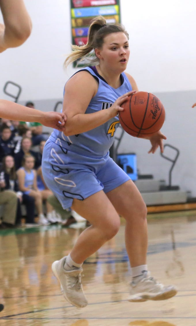 River Valley's Katie Klingel dribbles the ball while playing at Clear Fork on Tuesday.