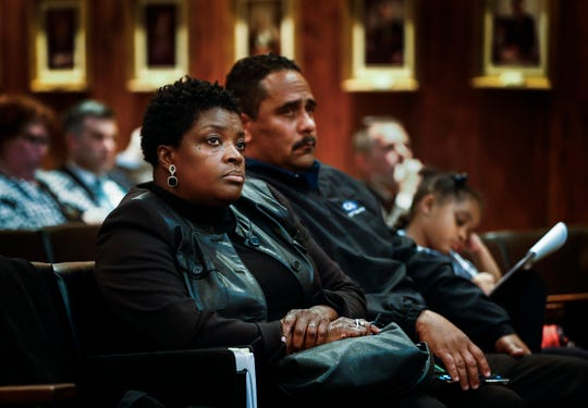 Memphis City Council hopeful Rhonda Logan attends Wednesday's meeting that ended early. On Tuesday, four council members walked out over a controversial District 1 appointment that Logan hopes to fill.