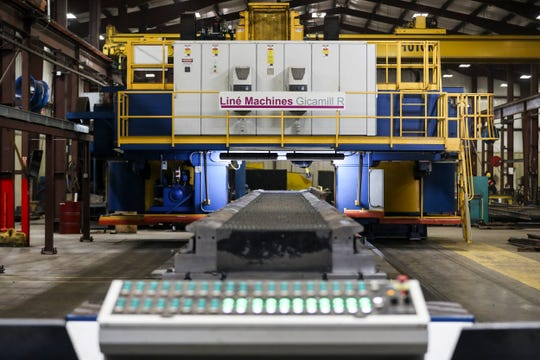 December 05 2018 - A view of the CNC machine inside of the Atlantic Track and Turnout Co. is seen on Wednesday.