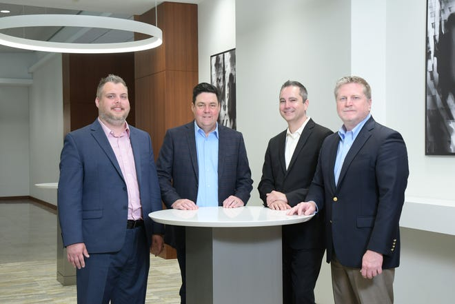 CTSI-Global's Managed Services Leadership Team, from left to right: Richard Perry, VP of global product management; Bryan Kelley, director of logistics operations; Josh Miller, VP of sales; Brian Scott, SVP of global sales.