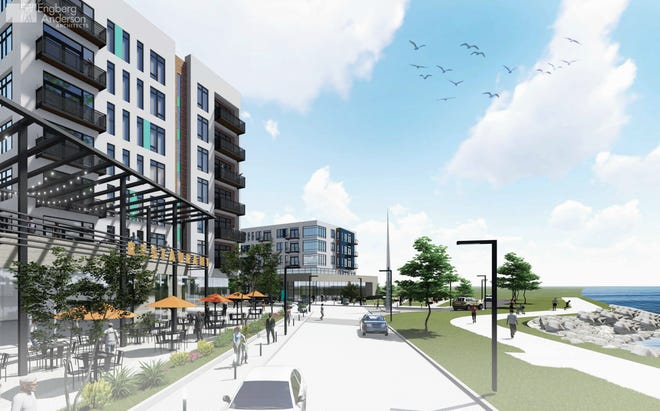 @ North Beach would have two phases, with a total of approximately 500 one-, two- and three-bedroom, market-rate apartments with internal parking and retail and commercial spaces on the the former Walker Muffler site on Racine's Lake Michigan shoreline.