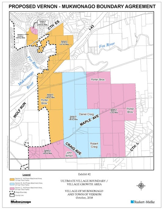 Mukwonago Vernon Border Agreement Area