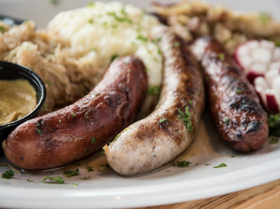 The Bavarian Bierhaus' Wurst Platter