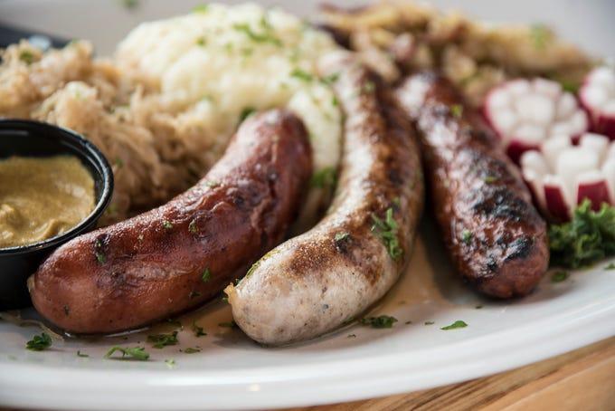 The Bavarian Bierhaus' Wurst Platter