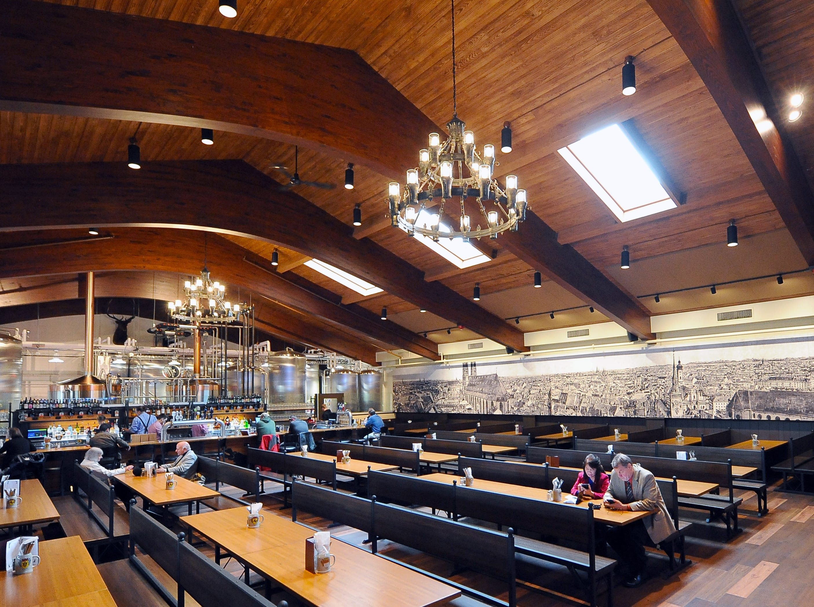 The Bavarian Bierhaus' beer hall includes space for over 300 guests and its own brewery system.