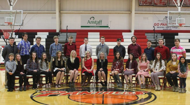 Norfork High School will host its 2018 Homecoming Ceremony at 5 p.m. Friday when they play host to the Bruno-Pyatt Patriots at Bobby D. Hulse Gymnasium in Norfork. Members of the Homecoming court are: (first row, from left) Grayson Teegarden, Jensen Wilbur, Hannah Wilson, Maddi McGowan, Mackynzie Rangel, Kinley Stowers, Macy Dillard, Whitlee Layne, Hannah Bradbury, Mesa Beavers, Ashton Beavers, Kylie Manes, Madeliene Smith, Jaylah Duran, (second row) Jacob Alexander, Ty Rosson, Jacob Hurst, Dawson Gray, R.T. Gillespie, Saul Maple, Jaden McFall, Tyler Sorters, Landon Byrd, Bryson Thiel, Kyle Crawford and Haston Hurst.