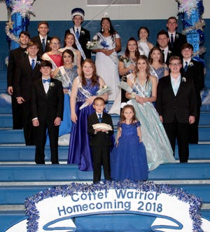Cotter High School held itsHomecoming Festivities on Friday at Cotter Coliseum. Samantha Sanchez and Colton Benedict (back row) were voted as Homecoming Queen and King, respectively.