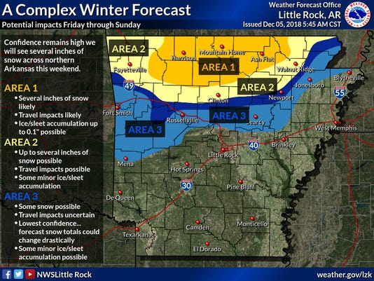 Snow Storm Weather Map.Snow Forecast Twin Lakes Area In Arkansas Bracing For Winter Storm