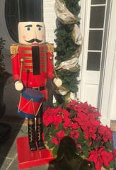 "This ""Nutcracker"" soldier guards the Governor's Mansion entrance."