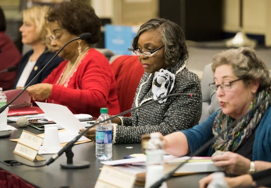 Brenda DeRamus-Coleman during the MPS school board meeting in Montgomery, Ala., on Tuesday, Dec. 4, 2018.
