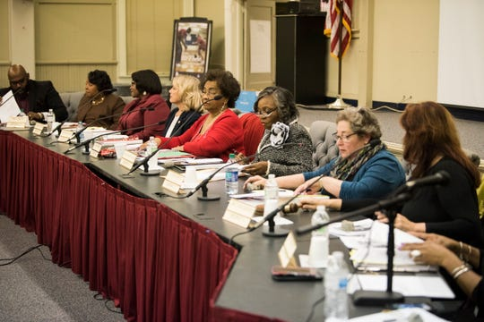 The MPS school board meeting in Montgomery, Ala., on Tuesday, Dec. 4, 2018.