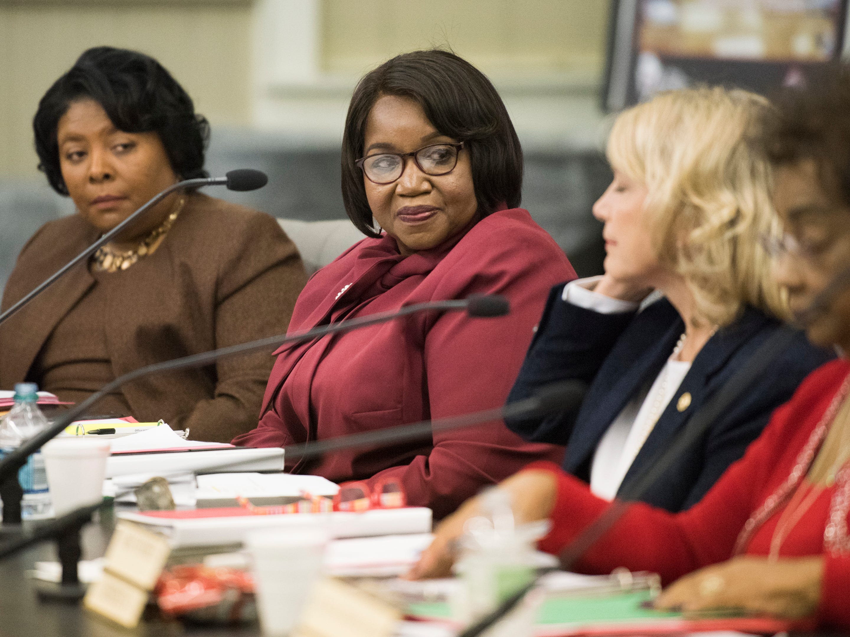 Claudia Mitchell during the MPS school board meeting in Montgomery, Ala., on Tuesday, Dec. 4, 2018.