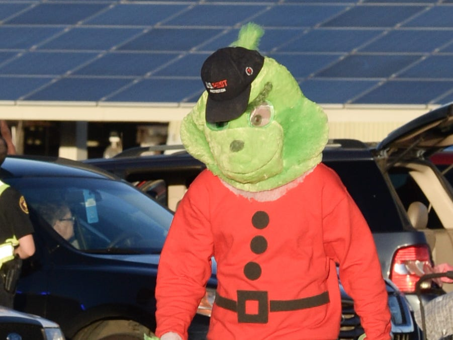 The Grinch visits the Hendersonville Christmas Parade on Sunday, Dec. 2.