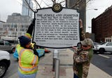 A historical marker placed at Seventh and Commerce marks the site of The Jungle & Juanita's, the first gay bars in Nashville.