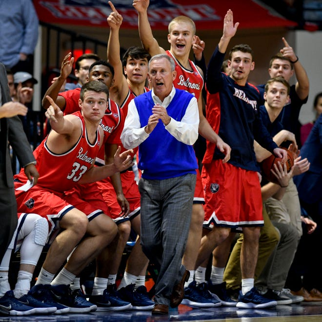 Belmont coach Rick Byrd during the first half against Lipscomb on Tuesday at Curb Event Center.