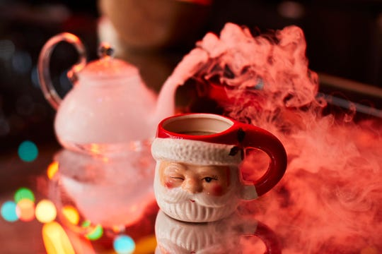 Enjoy tipsy hot cocoa and more at Sinnin' for Santa — Miracle at Hidden Bar, insideNoelle Nashville.