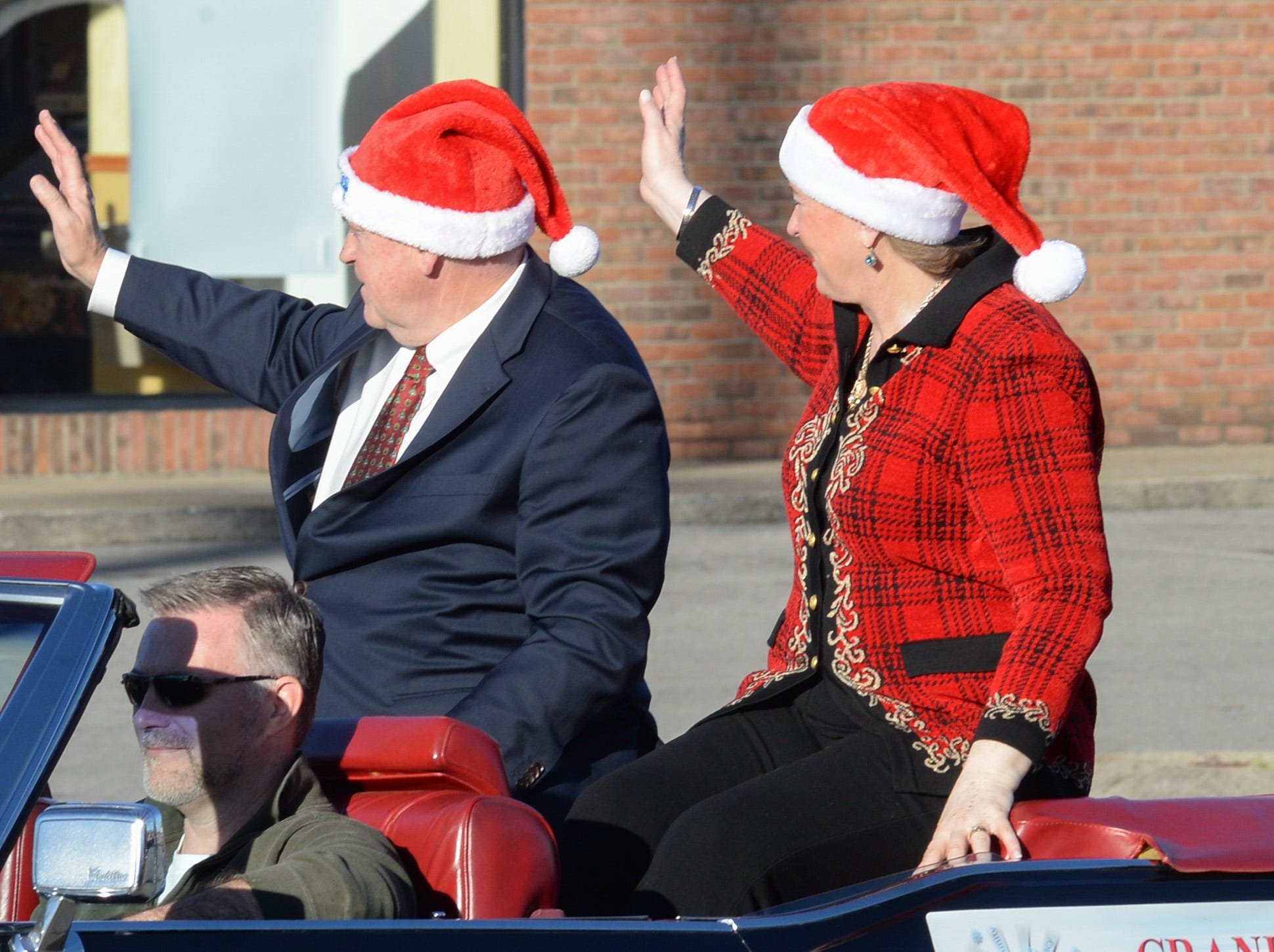 Mike Huckabee was the grand marshall for the Hendersonville Christmas Parade on Sunday, Dec. 2.